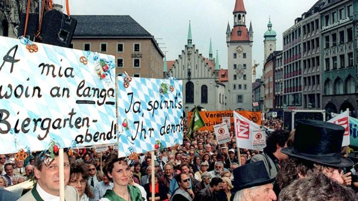 München Biergarten-Protest 1995