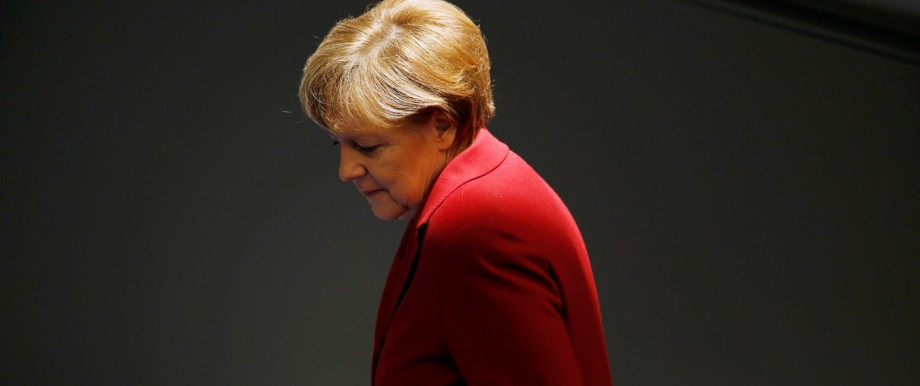German Chancellor Merkel attends a debate at Bundestag in Berlin