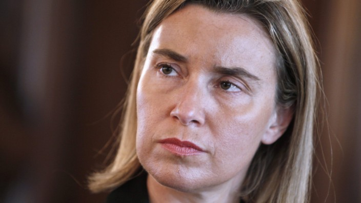 EU Foreign Policy Chief Mogherini in Luxembourg