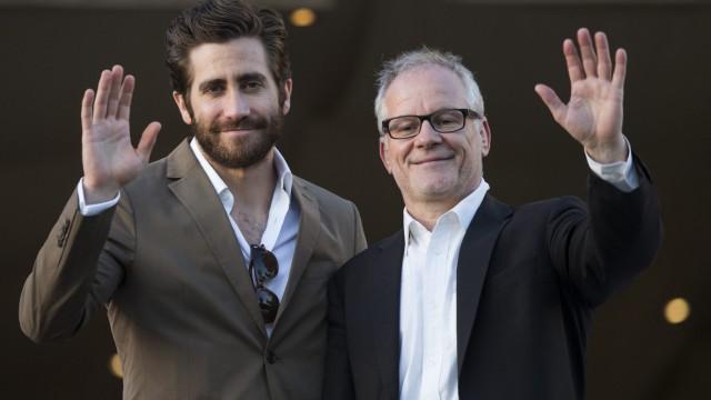 Jake Gyllenhaal (links) mit Thierry Frémaux, Direktor der Filmfestspiele von Cannes.