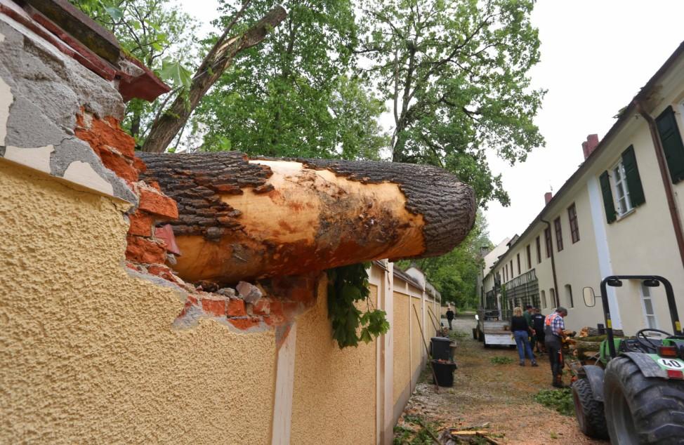 Unwetter in Nordschwaben