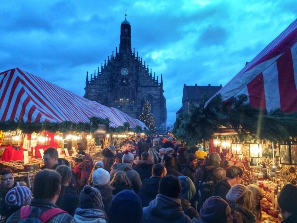 Christkindlmarkt in Nürnberg, Deutschland