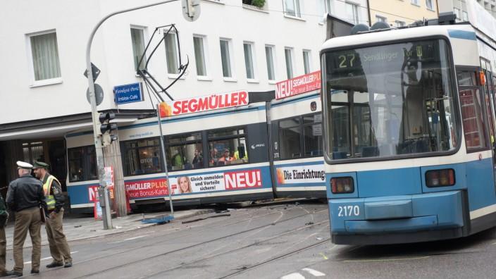 Straßenbahn Unfall