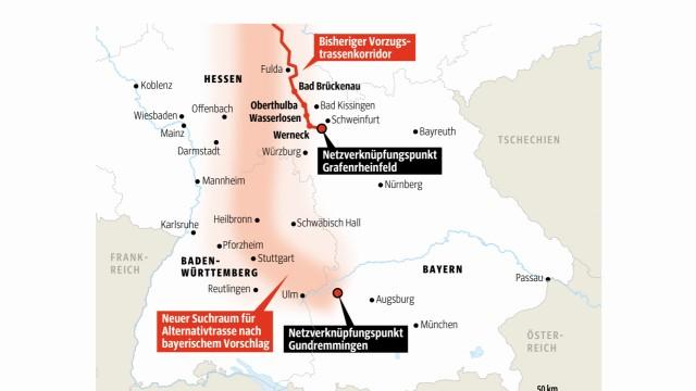 Stromtrasse Stromtrassen Bayern