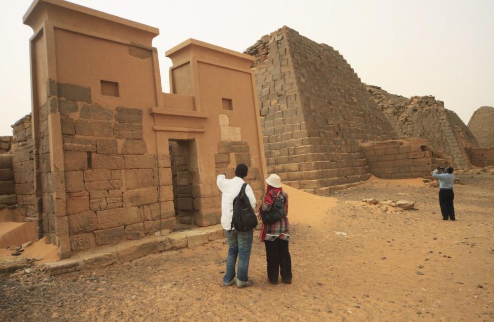 Pyramiden von Meroe, Sudan, Nubien, Reich von Kusch