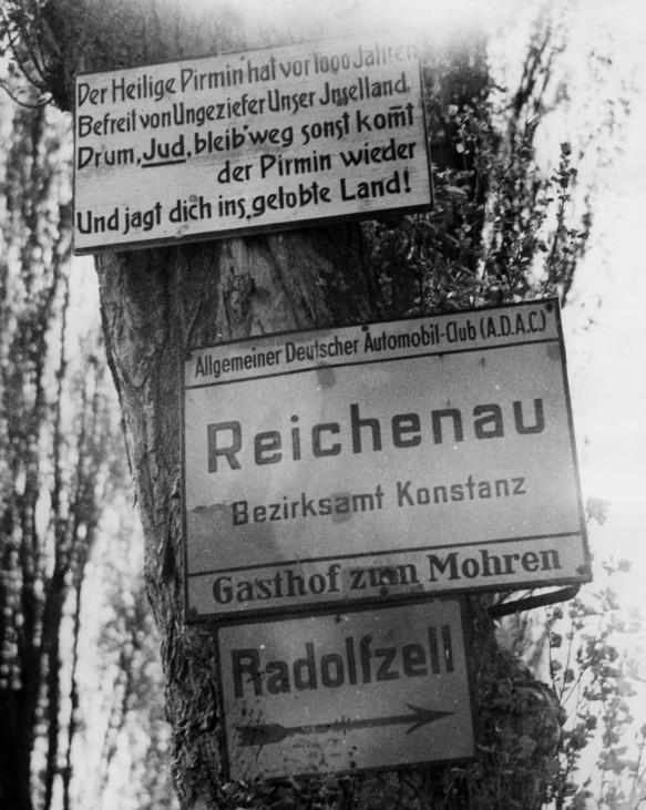 Hetzpropaganda gegen Juden auf der Insel Reichenau, 1937