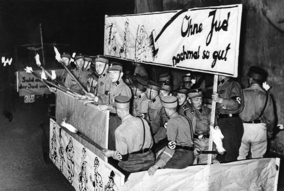 Antisemitische Hetzpropaganda  der SA standarte Berlin Tegel, 1935