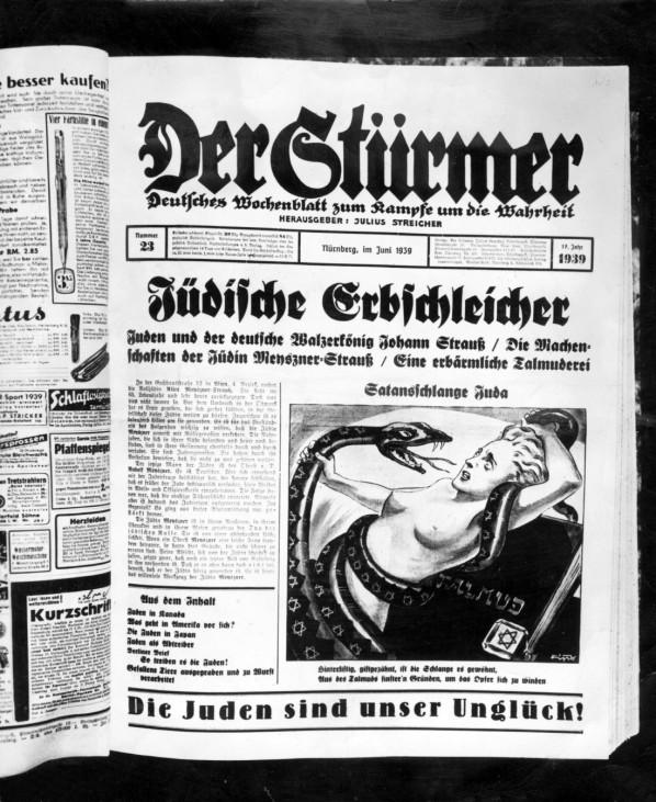 Titelseite der NS-Zeitung 'Der Stürmer', 1936