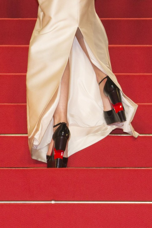 The shoes of guests are pictured as they walk on on the red carpet before the screening of the film 'Marguerite et Julien' in competition at the 68th Cannes Film Festival in Cannes