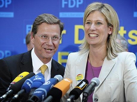 dpa, Koch-Mehrin, Westerwelle, Europawahl, FDP