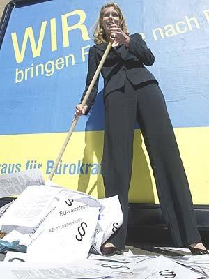 silvana koch mehrin wahlkampf europa parlament spitzenkandidatin