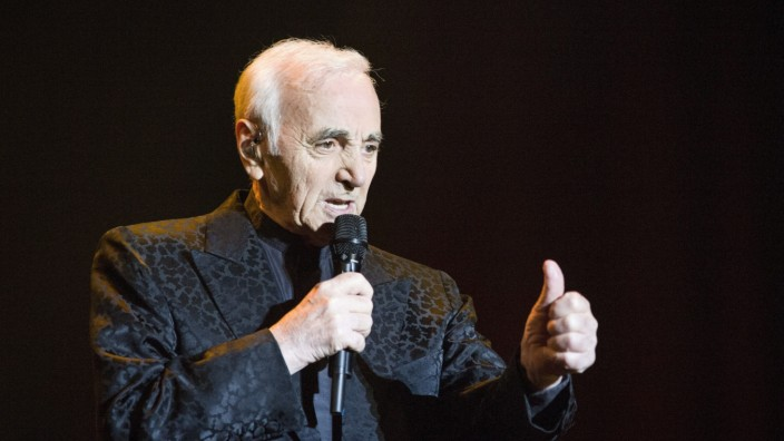 Charles Aznavour during a concert