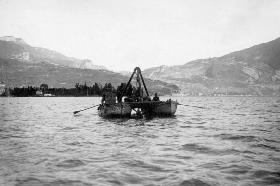 Minenlegen im Gardasee, 1915