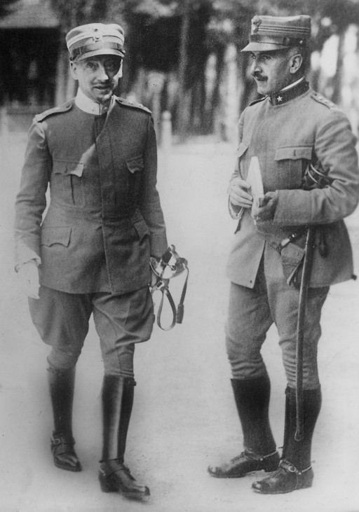 Gabriele d'Annunzio als Offizier, 1915