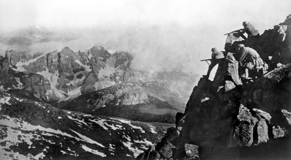 Österreichische Patrouille im Hochgebirge, 1916