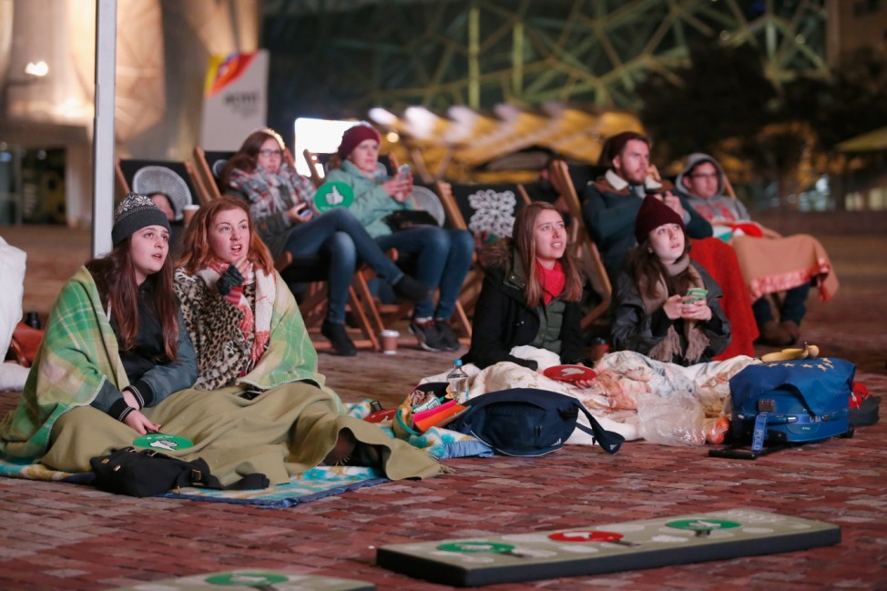 Australians Watch Eurovision Grand Final At Federation Square