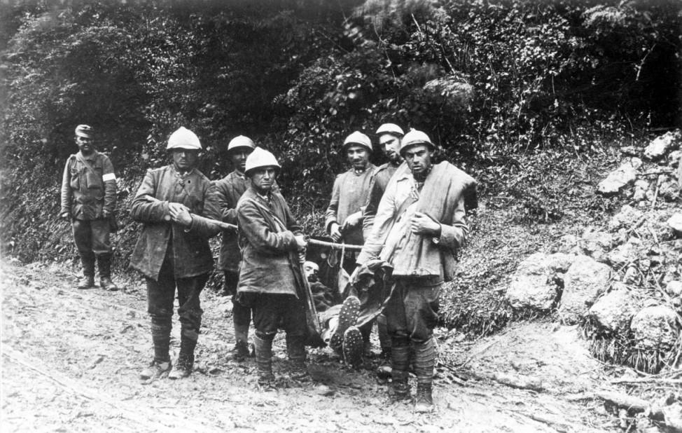 Italienische Gefangene an der Isonzofront, 1917