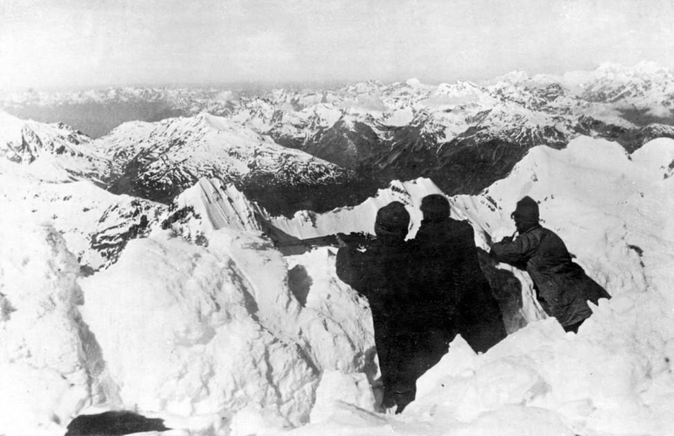 Der höchste Schützengraben im Gebirgskrieg in Tirol, 1918