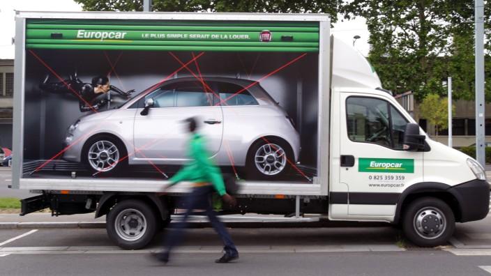 Fiat 500 Europcar Mietwagen Ausland