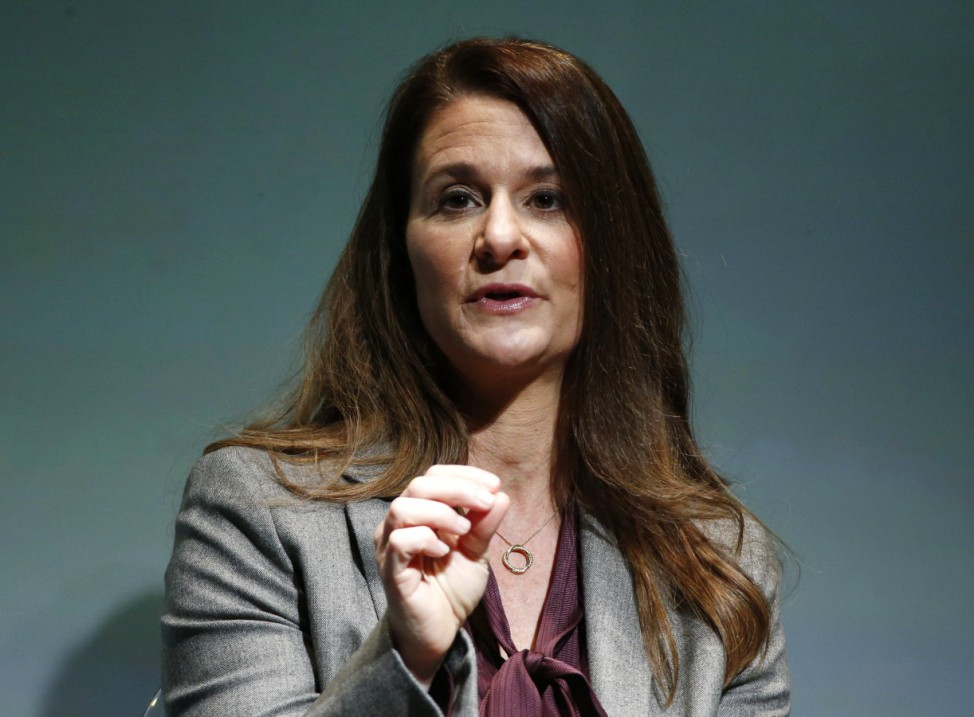 Gates Foundation Co-Chair Melinda Gates speaks during a Gates Foundation event in New York