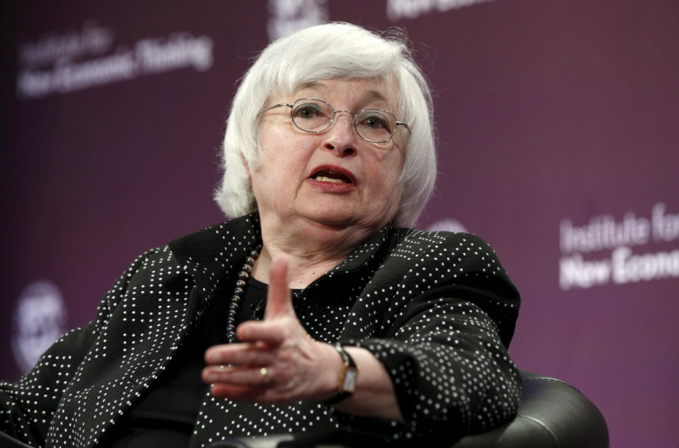 Federal Reserve Chair Yellen speaks at the IMF in Washington
