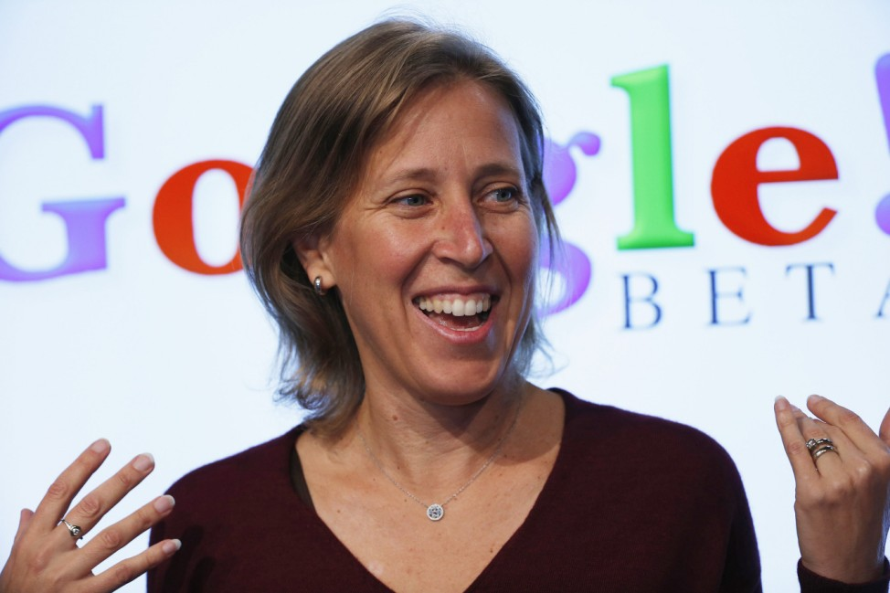 Wojcicki, senior vice president of Ads and Commerce for Google, speaks in Menlo Park, California