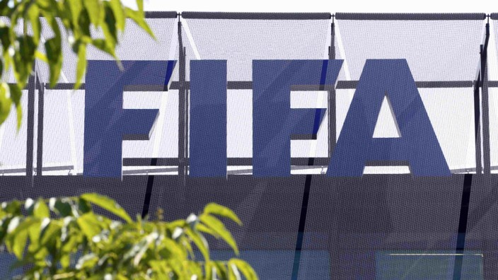 The logo of soccer's international governing body FIFA is seen on its headquarters in Zuric