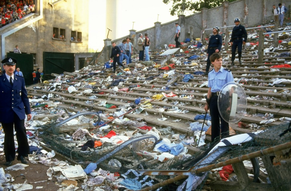 The aftermath of the crowd riots