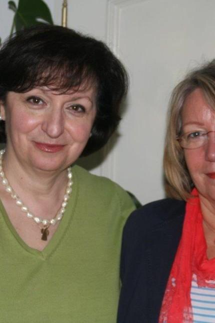 Lidija Bartels (Mein Tag Brucker Tafel) die Frau mit dem grünen Pullover