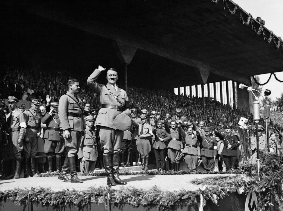 Adolf Hitler und Baldur von Schirach auf dem Reichsparteitag, 1935