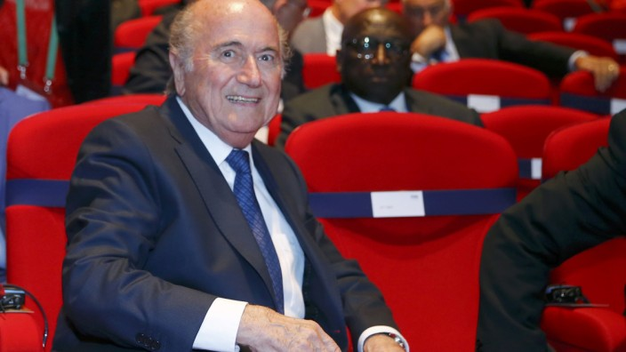 FIFA President Blatter arrives for opening ceremony of 65th FIFA Congress in Zurich
