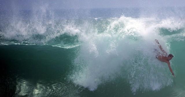 Riesenwellen in Kalifornien