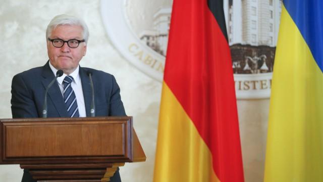German Foreign Minister Frank-Walter Steinmeier visits Ukraine