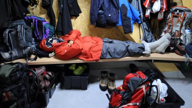 Goûter-Hütte am Mont Blanc
