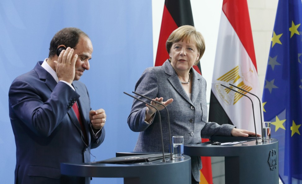German Chancellor Merkel and Egypt's President Sisi address joint news conference in Berlin