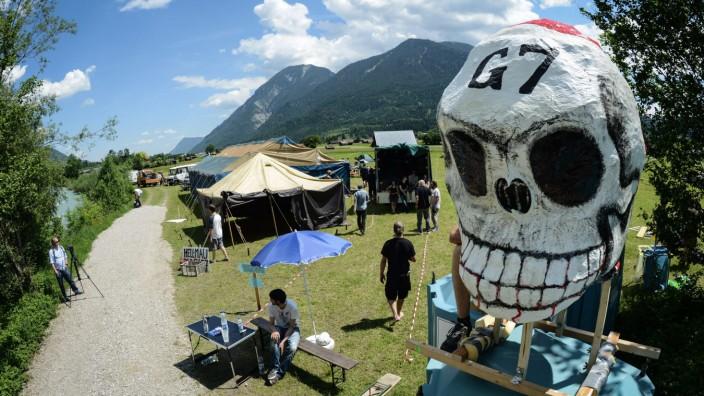 Protestcamp in Garmisch gegen G-7-Gipfel