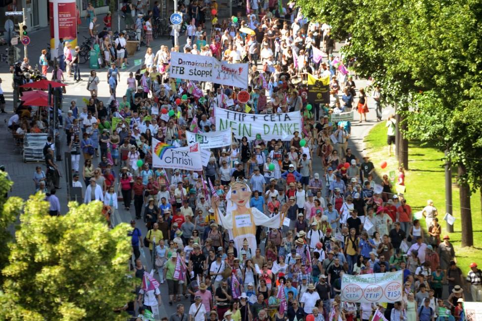 G7-Gipfel 2015 - Demonstration