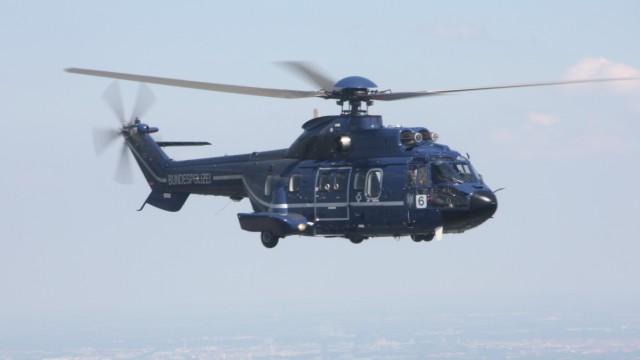 Hubschrauber in der Luft.