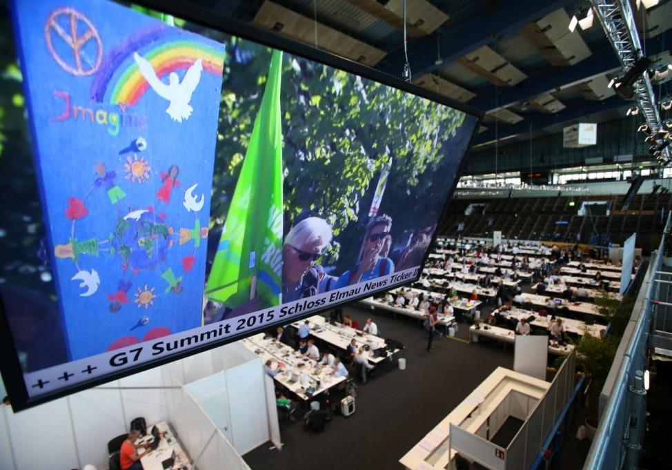G7-Gipfel 2015 - Medienzentrum