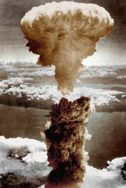 Abwurf der Atombombe über Hiroshima, 1945,Hiroshima nach dem Atombombenabwurf, 1945!!!Achtung, nur in einer reinen SZ-Photo-Biga in Zusammenhang mit dem 70. Jahrestag der Atombombenabwürfe über Japan zu verwenden!!!