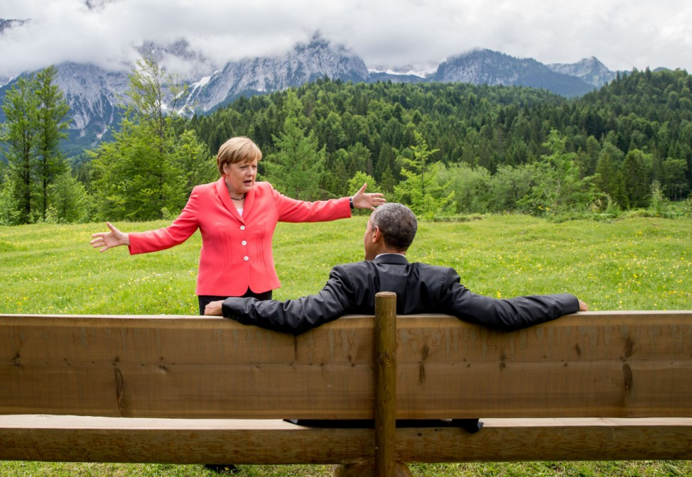 G7-Gipfel 2015 - Obama und Merkel