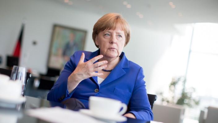 dpa-exklusiv - Bundeskanzlerin Angela Merkel