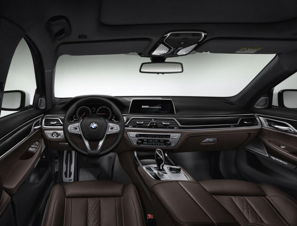 Der Innenraum des BMW 7ers Modell 2015.