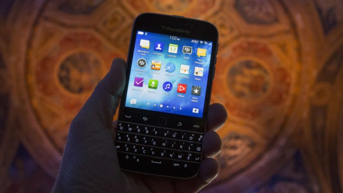 File photo of the new Blackberry Classic smartphone in New York