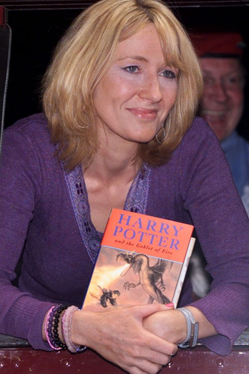 JK ROWLING LAUNCHES THE NEW HARRY POTTER BOOK AT KINGS CROSS STATION