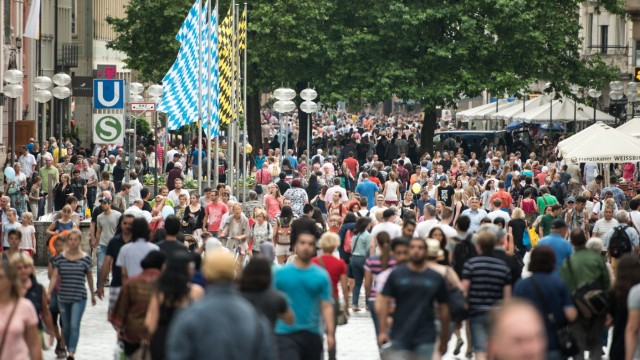 Verkaufsoffener Sonntag in München im Jahr 2015 zum Stadtgründungsfest