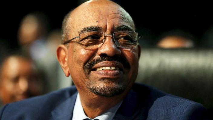 Sudanese President Omar al-Bashir looks on ahead of the 25th African Union summit in Johannesburg