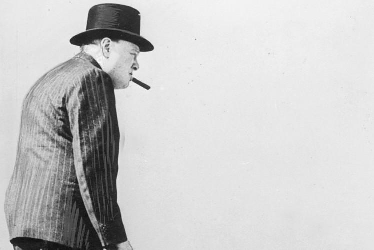 Winston Churchill besucht britische Stellung am Ärmelkanal, 1940