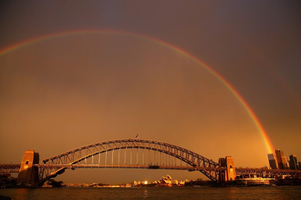 Rainbows Light Up Sydney Harbour