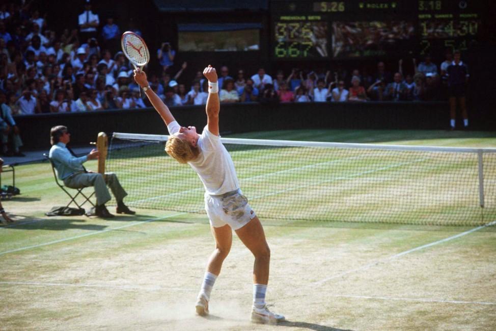 Boris Becker Deutschland gewinnt als jüngster Spieler aller Zeiten die All England Championships